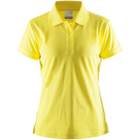 Craft Classic Piqué Poloshirt Dames, yellow